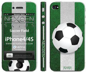 Nexgen Skins - Zestaw skórek na obudowę z efektem 3D iPhone 4 / iPhone 4S (On the Field 3D)
