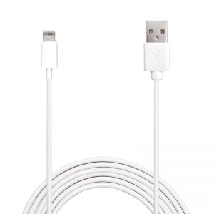 PURO Plain - Kabel połączeniowy USB Apple złącze Lightning MFi 2m (biały)