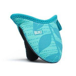 BUILT Mini Grip Pot Holder - Mini uchwyt do garnków (Sea Glass Blue Leaves)