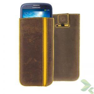 Valenta Pocket Stripe Vintage - Skórzane etui wsuwka Samsung Galaxy S4/S III