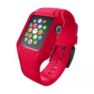 Incipio NGP Strap - Elastyczny pasek do Apple Watch 38mm (czerwony)