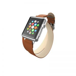 Incipio Reese Double Wrap - Skórzany pasek do Apple Watch 42mm (tan)