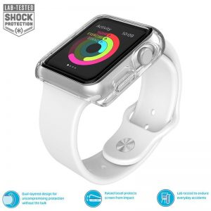 Speck CandyShell Fit - Bumper do Apple Watch 38mm (Clear/Clear)