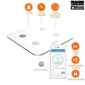 iHealth Core Wireless Body Composition Scale - Automatyczny analizator / waga składu ciała z pomiarem temperatury otoczenia iOS/Android (WiFi)