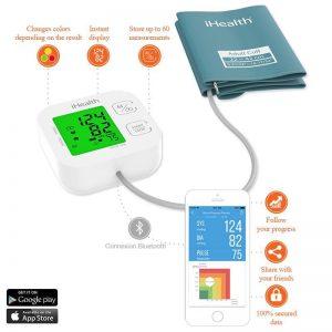 iHealth Track Connected Blood Pressure Monitor - Bezprzewodowy ciśnieniomierz naramienny iOS/Android
