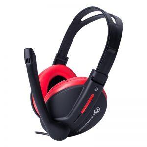 Marvo H8312 - Słuchawki stereofoniczne dla graczy z mikrofonem (czarny/czerwony)
