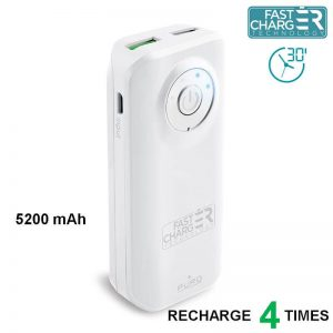 PURO Universal External Fast Charger Battery - Uniwersalny Power Bank 5200 mAh