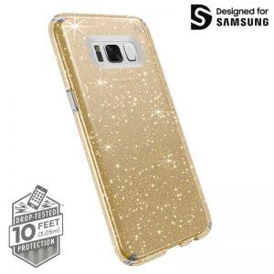 Speck Presidio Clear with Glitter - Etui Samsung Galaxy S8 (Gold Glitter/Clear)