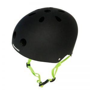 Kawasaki Helmet S/M - Kask z systemem regulacji Headlock 52-56 cm (czarny/zielony)