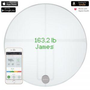 QardioBase 2 Smart Scale - Inteligentna waga z funkcją analizy składu ciała BMI Wi-FI dla iOS / Android / Kindle / Apple Health (Arctic White)