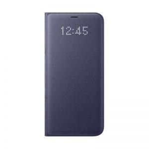 Samsung LED View Cover - Etui z klapką + kieszeń na kartę Samsung Galaxy S8+ (fioletowy)