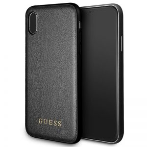 Guess Iridescent - Etui iPhone Xs / X (czarny)