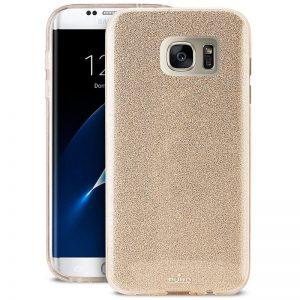 PURO Glitter Shine Cover - Etui Samsung Galaxy S7 edge (Gold)