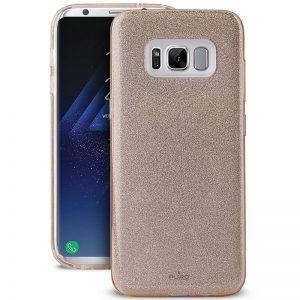 PURO Glitter Shine Cover - Etui Samsung Galaxy S8+ (Gold)