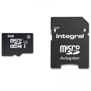 Integral UltimaPro - Karta pamięci 8GB microSDHC/XC 40MB/s Class 10 UHS-I U1 + Adapter
