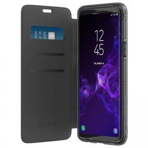 Griffin Survivor Clear Wallet - Pancerne etui z klapką Samsung Galaxy S9 (czarny/przezroczysty)