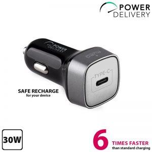 PURO Ultra Car Charger Power Delivery - Ładowarka samochodowa USB-C Power Delivery