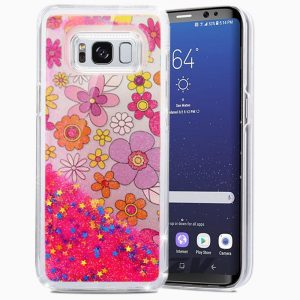 Zizo Liquid Glitter Star Case - Etui Samsung Galaxy S8+ (Multiflowers)