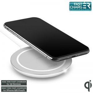 PURO Fast Wireless Charging Station QI - Bezprzewodowa ładowarka indukcyjna Qi do iPhone i Android
