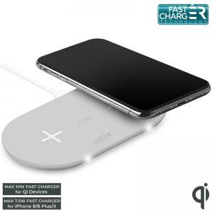 PURO Fast Wireless Dual Dock - Bezprzewodowa ładowarka indukcyjna Qi do iPhone i Android