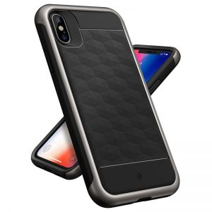 Caseology Parallax Case - Etui iPhone Xs / X (Black/Warm Gray)