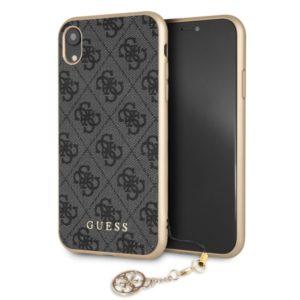 Guess 4G Charms Collection - Etui iPhone XR z zawieszką (szary)