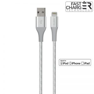 PURO Fabric K2 - Kabel w oplocie heavy duty USB-A/Lightning MFi 1