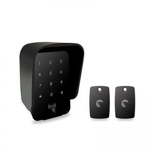 eTIGER RFID Weatherproof Keypad - Zestaw bezprzewodowej klawiatury zewnętrznej z brelokami RFID