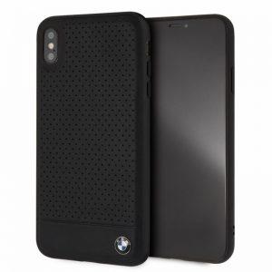 BMW Perforated Horizontal Smooth Leather - Etui iPhone Xs Max (czarny)