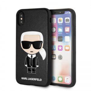 Karl Lagerfeld Iconic Karl Embossed - Etui iPhone Xs / X (Black)