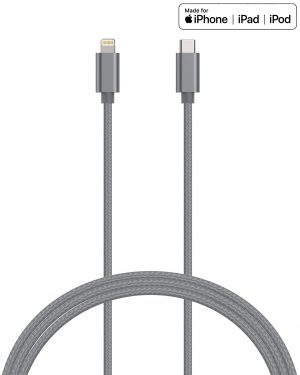 Kanex DuraBraid - Kabel połączeniowy USB-C (Power Delivery) na Lightning MFi 2 m (Space Gray)