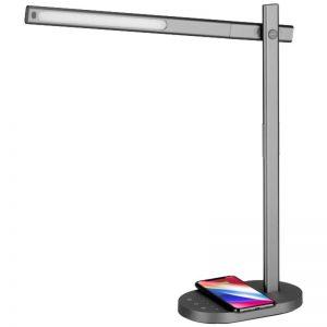 Momax Q.Led Desk Lamp - Ściemnialna lampa LED na biurko + ładowarka indukcyjna Qi do iPhone i Android