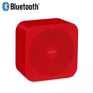PURO Handy Speaker ? Przenośny głośnik bezprzewodowy Bluetooth (czerwony)