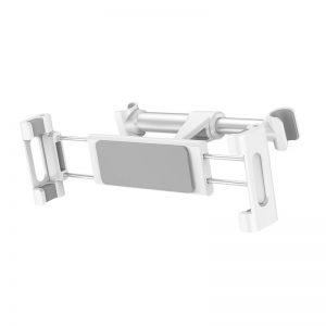 Baseus Backseat - Uniwersalny uchwyt na zagłówek dla tabletów i smartfonów (srebrny)