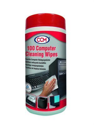 CCM Nawilżone chusteczki do plastiku 100 szt