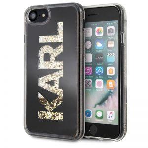 Karl Lagerfeld Logo Karl - Etui iPhone SE 2020 / 8 / 7 (Gold Glitter)