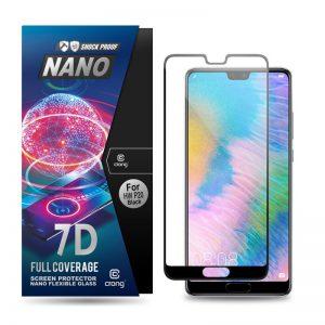 Crong 7D Nano Flexible Glass - Szkło hybrydowe 9H na cały ekran Huawei P20