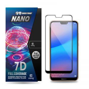 Crong 7D Nano Flexible Glass - Szkło hybrydowe 9H na cały ekran Huawei P20 Pro