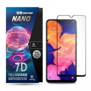 Crong 7D Nano Flexible Glass - Szkło hybrydowe 9H na cały ekran Samsung Galaxy A10