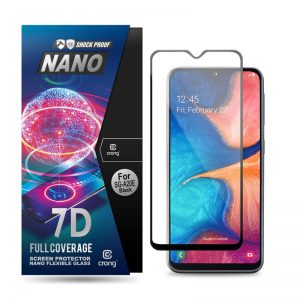 Crong 7D Nano Flexible Glass - Szkło hybrydowe 9H na cały ekran Samsung Galaxy A20e