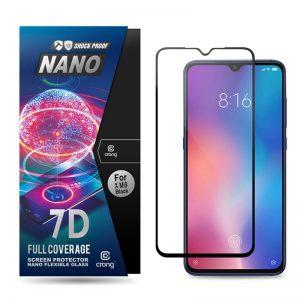 Crong 7D Nano Flexible Glass - Szkło hybrydowe 9H na cały ekran Xiaomi Mi 9