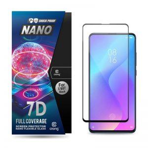 Crong 7D Nano Flexible Glass - Szkło hybrydowe 9H na cały ekran Xiaomi Mi 9T / 9T Pro