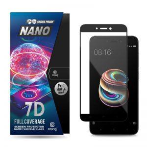 Crong 7D Nano Flexible Glass - Szkło hybrydowe 9H na cały ekran Xiaomi Redmi 5A