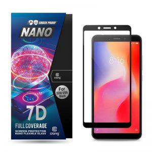 Crong 7D Nano Flexible Glass - Szkło hybrydowe 9H na cały ekran Xiaomi Redmi 6/6A
