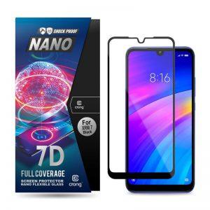Crong 7D Nano Flexible Glass - Szkło hybrydowe 9H na cały ekran Xiaomi Redmi 7