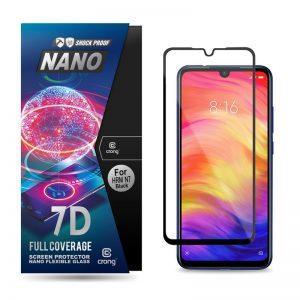Crong 7D Nano Flexible Glass - Szkło hybrydowe 9H na cały ekran Xiaomi Redmi Note 7