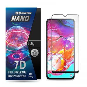 Crong 7D Nano Flexible Glass - Szkło hybrydowe 9H na cały ekran Samsung Galaxy A70