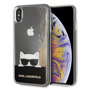 Karl Lagerfeld Choupette Sunglass - Etui iPhone Xs Max (Glitter Gold)