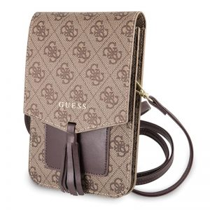 Guess 4G Uptown Wallet Phone Bag - Torba z przegrodą na smartfona (brązowy)
