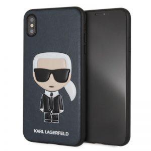 Karl Lagerfeld Iconic Karl Embossed - Etui iPhone Xs Max (granatowy)